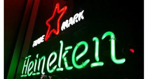 Heineken digital signage integrated with Poly VC